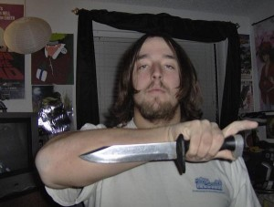 He likes knives, too.