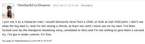 Pedophilia, a character trait.