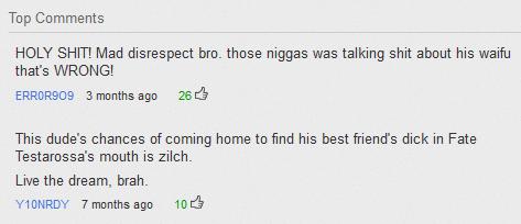 Mad disrespect bro.